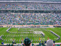 [Photo of Spartan marching band]